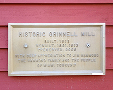 Grinnell Mill Plaque