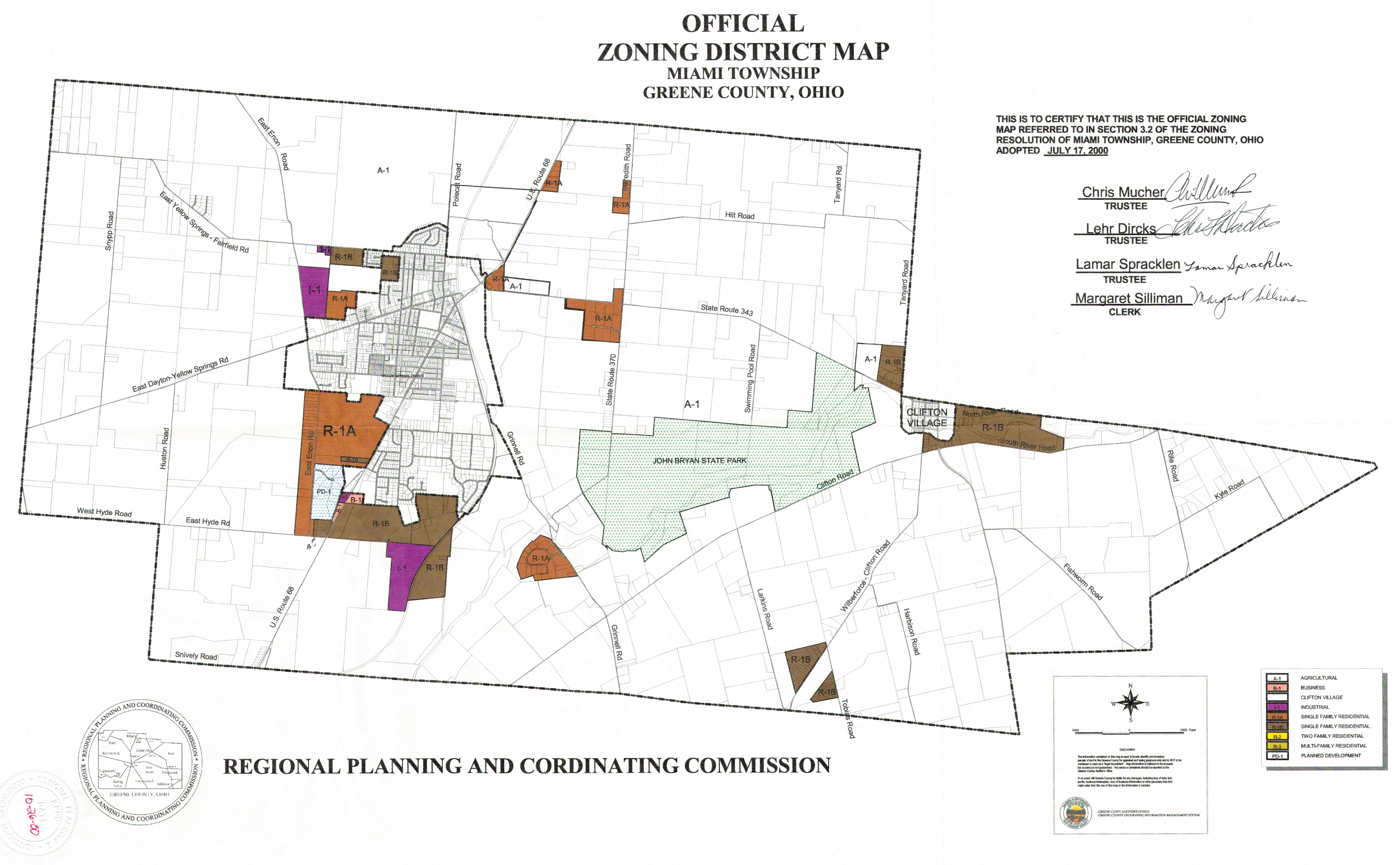 Miami Township Zoning Map